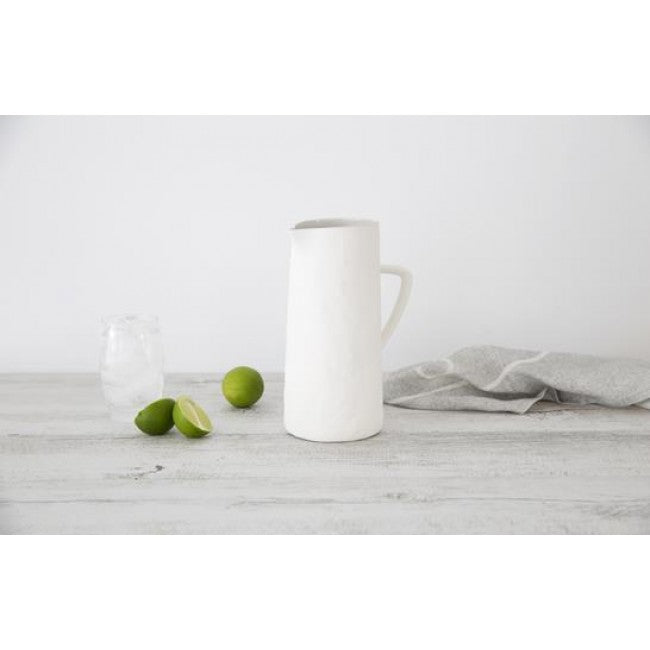 Flax Jug with handle 24cm | Snow White - Magnolia Lane