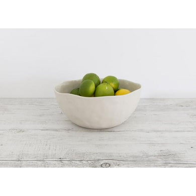 Flax Salad Bowl | Cream - Serving Bowl - Flax Ceramics - Magnolia Lane