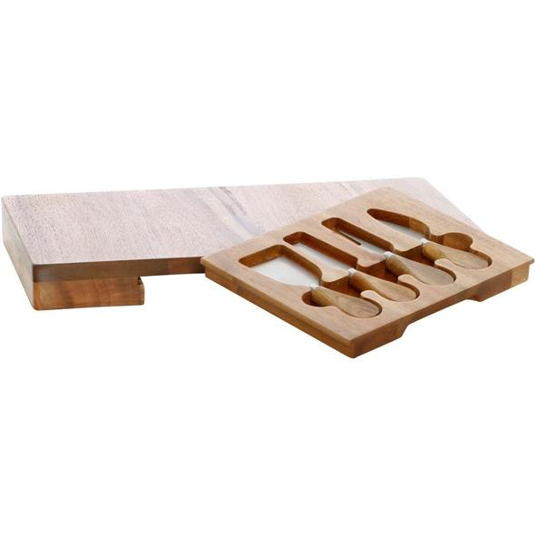 Stafford Rectangle Cheese Board With Knives - Magnolia Lane