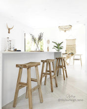Load image into Gallery viewer, Kusina Barstool | Teak - Uniqwa Collections - Magnolia Lane