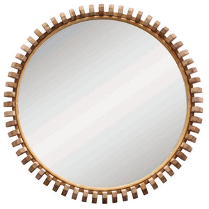 Lindi Round Mirrors | Natural Oak - Uniqwa Collections - Magnolia Lane