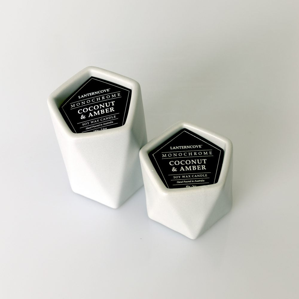 Monochrome Soy Wax Candle 5.6oz | Matte Grey - Lanterncove - Magnolia Lane