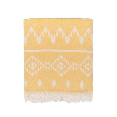 Oteki Kilim Knotty Turkish Towel - Saffron - Magnolia Lane