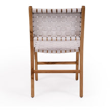 Load image into Gallery viewer, Woven Leather Dining Chair | White - Magnolia Lane