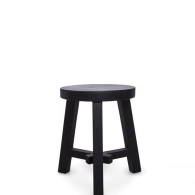 A Grade Teak Stool Full Black - Magnolia Lane
