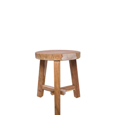 A Grade Teak Stool Natural - Magnolia Lane
