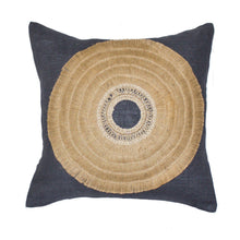 Load image into Gallery viewer, African Shield Navy Medium Cushion 50x50cm - Magnolia Lane