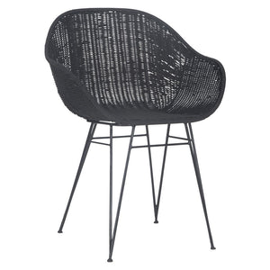 Angola Dining Chair | Black - Magnolia Lane