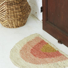 Load image into Gallery viewer, Aquarius Round Doormat- Coral/Peach/Gold - Magnolia Lane