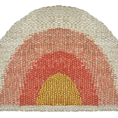 Aquarius Round Doormat- Coral/Peach/Gold - Magnolia Lane