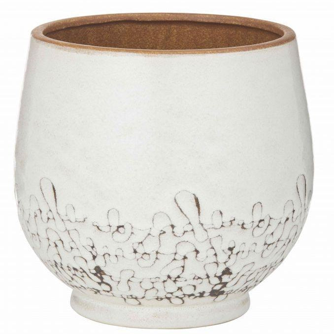 Artemis Pot 26x26x25cm White - Magnolia Lane