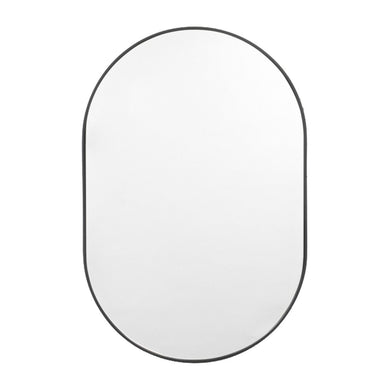 Bjorn Oval Mirror Black - Magnolia Lane