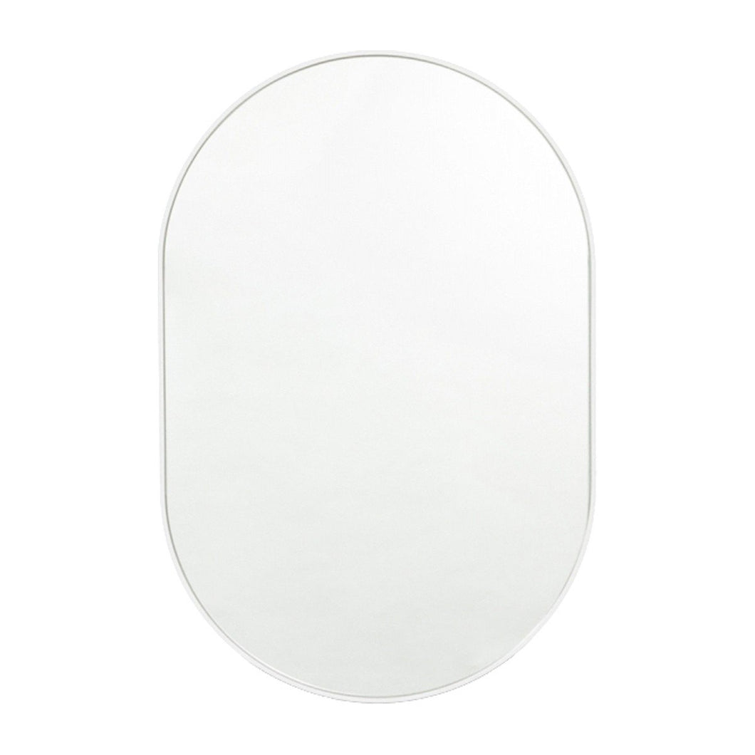 Bjorn Oval Mirror White - Magnolia Lane