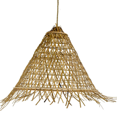 Cone Shaped Rattan Pendant | Large - Magnolia Lane