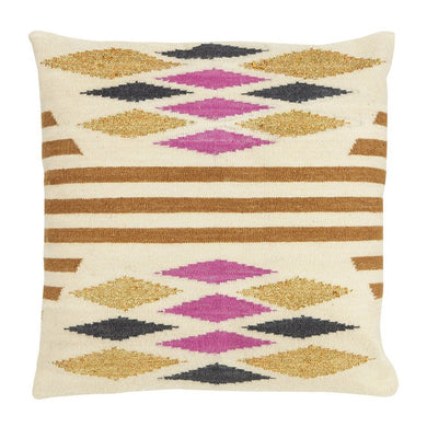 Desert Cushion - Tan/Fuschia - Magnolia Lane