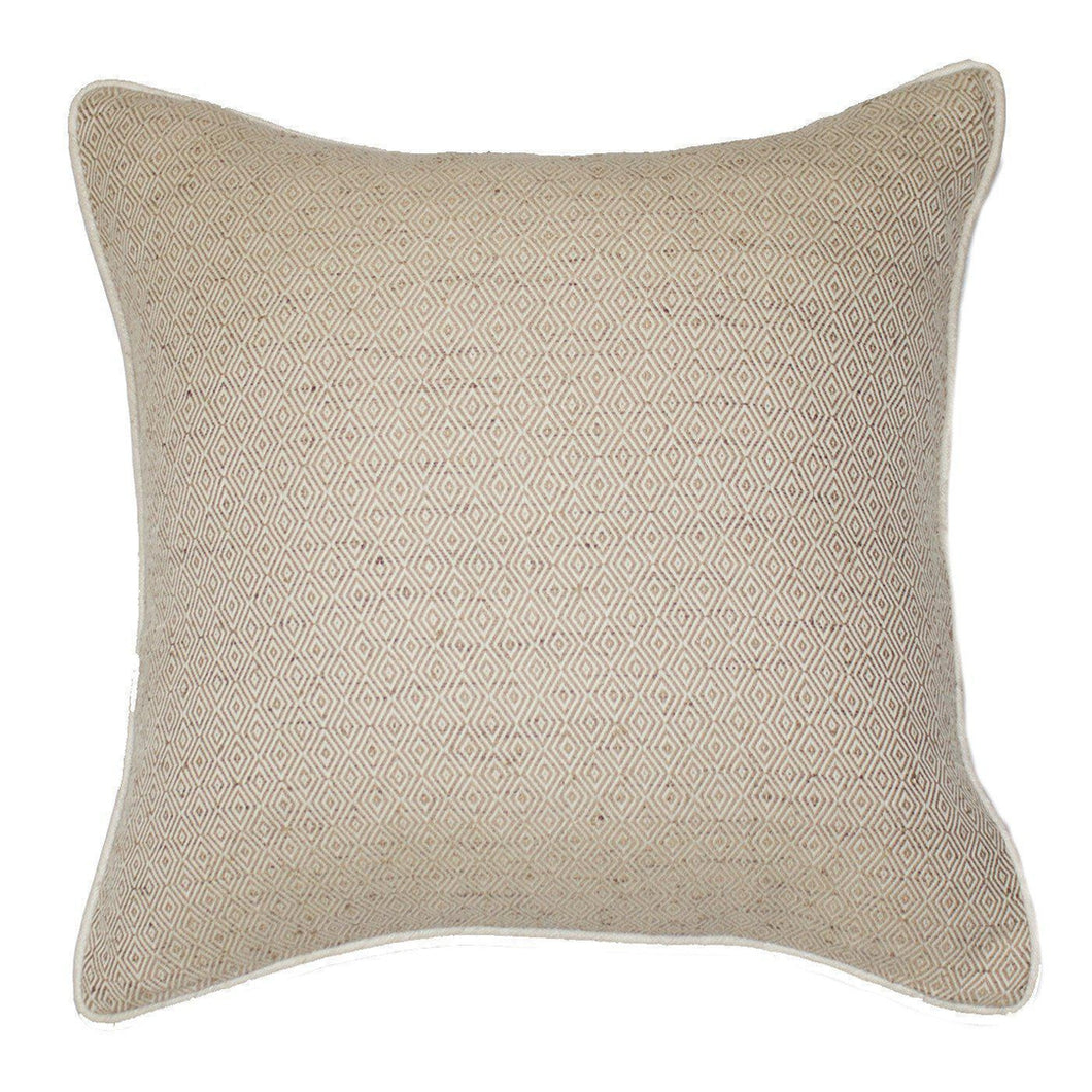 Diamond Weave Natural Lounge Cushion 55x55cm - Magnolia Lane