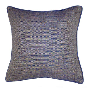Diamond Weave Navy Lounge Cushion 55x55cm - Magnolia Lane