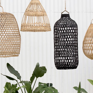 Esher Handwoven Flat Rattan Natural Lighting - Magnolia Lane