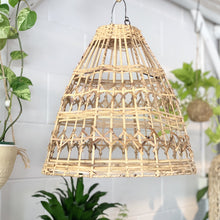 Load image into Gallery viewer, Esher Handwoven Flat Rattan Natural Lighting - Magnolia Lane