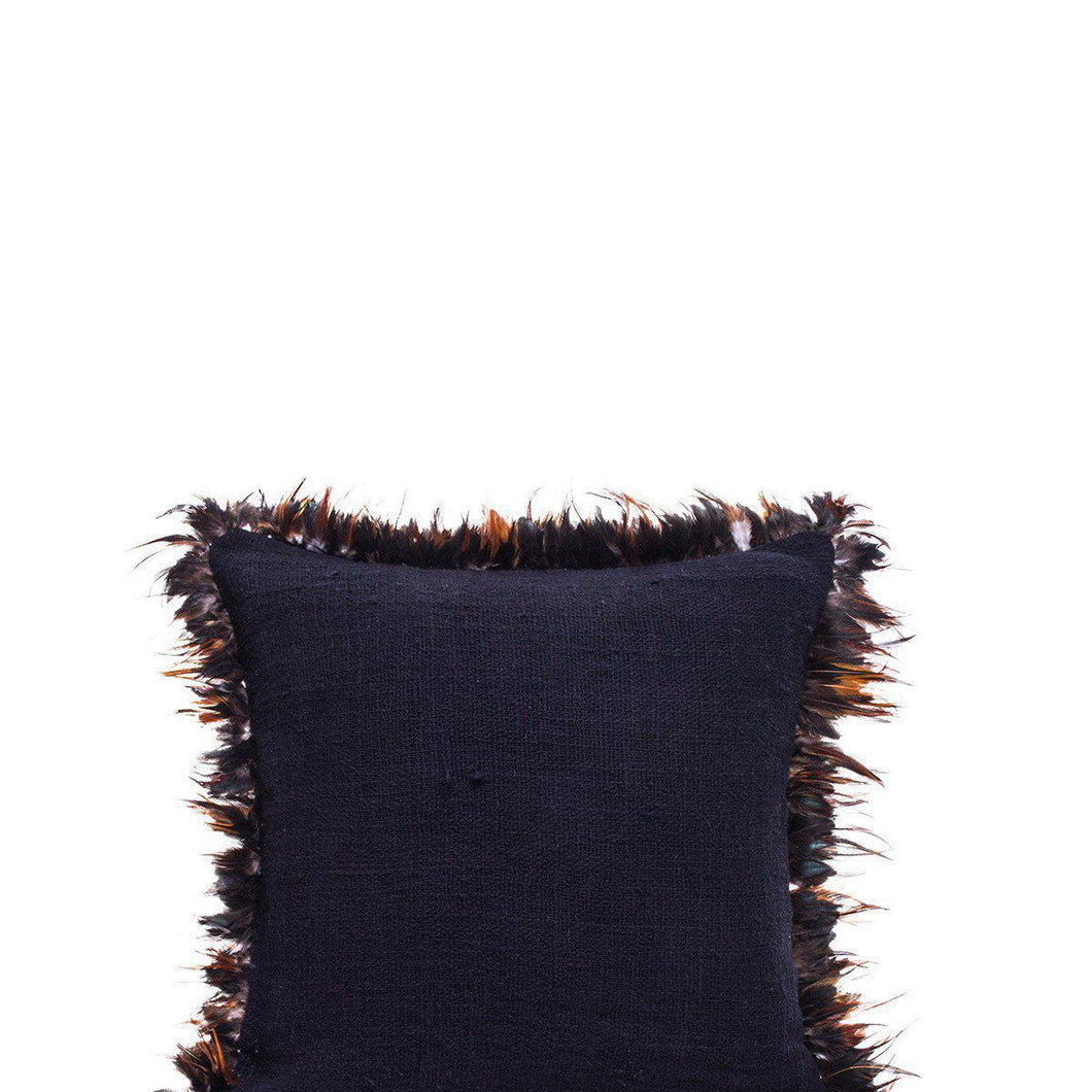 Feather Cushion Cover Black by Kimsoo - Magnolia Lane