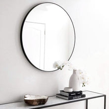 Load image into Gallery viewer, Flynn Round Mirror Black - Magnolia Lane