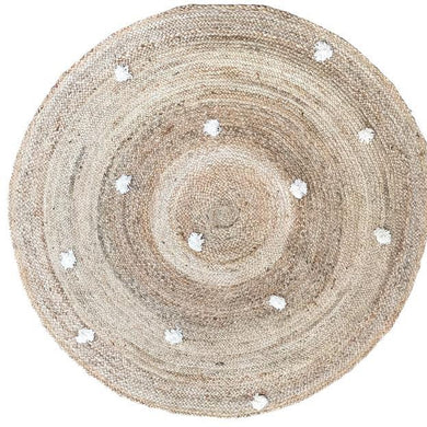 Jute Dot Natural Round Rug - Magnolia Lane