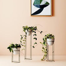 Load image into Gallery viewer, Halo Plant Stand | Various Sizes B+W - Magnolia Lane