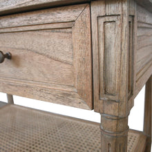 Load image into Gallery viewer, Hamilton Cane Wide Nightstand | Weathered Oak - Magnolia Lane