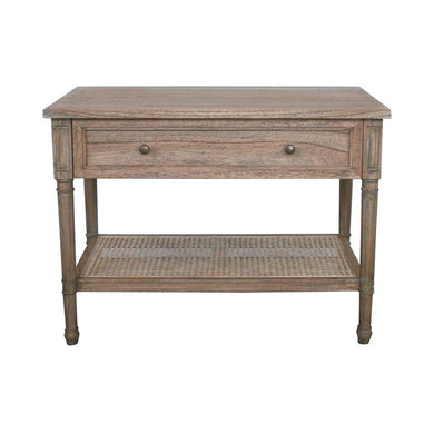 Hamilton Cane Wide Nightstand | Weathered Oak - Magnolia Lane