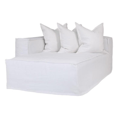 Hendrix Sofa | Chaise Left Hand Arm| White - Magnolia Lane