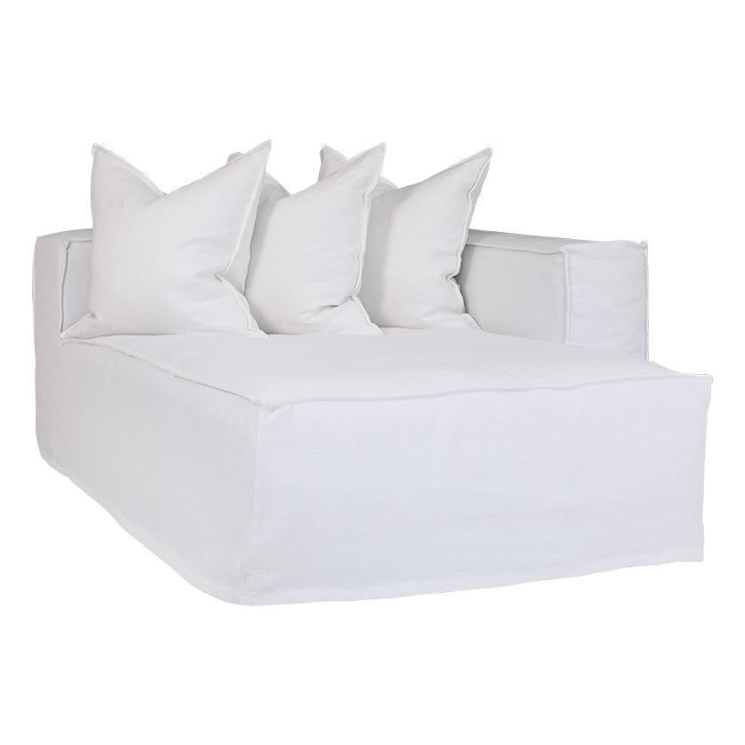 Hendrix Sofa | Chaise Right Hand Arm| White - Magnolia Lane