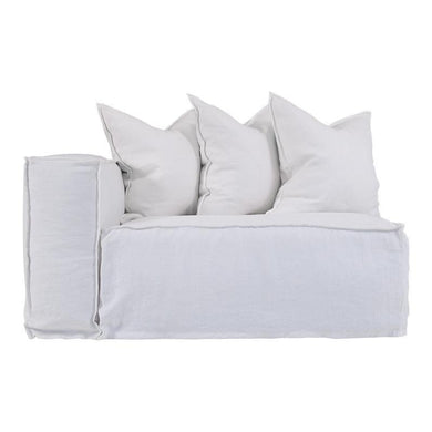 Hendrix Sofa | One Seater Left Hand Arm | White by Uniqwa Furniture - Magnolia Lane