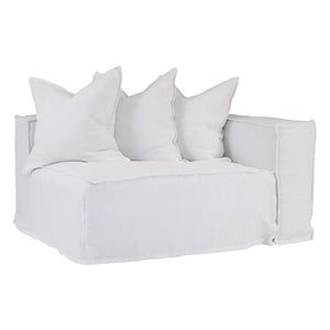 Hendrix Sofa | One Seater Right Hand Arm | White by Uniqwa Furniture - Magnolia Lane