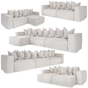Hendrix Sofa | One Seater Right Hand Arm | White - Magnolia Lane