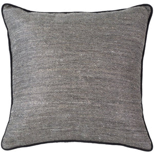 Herring Bone Black Lounge Cushion - Magnolia Lane