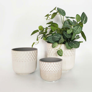 Tuscan Planter White Large | 16cm - Magnolia Lane