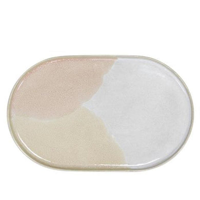 Ceramic 80's Oval Side Plate Pink/Nude - Magnolia Lane