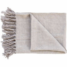 Load image into Gallery viewer, Luca Linen Throw | Silver Grey - Magnolia Lane