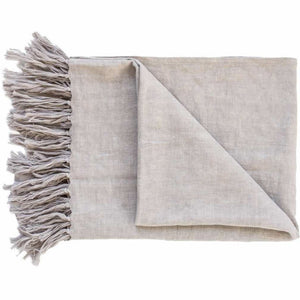 Luca Linen Throw | Silver Grey - Magnolia Lane