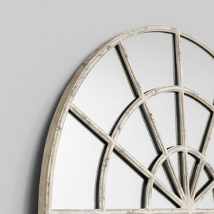 Garden Arch Mirror - Medium | Rustic White - Magnolia Lane