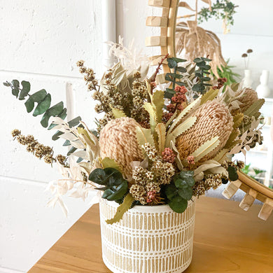 Table Centre Piece - Dried Flower Arrangement - Magnolia Lane