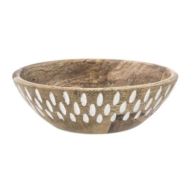 Sandstorm Mango Wood Serving Bowl|Small - Magnolia Lane
