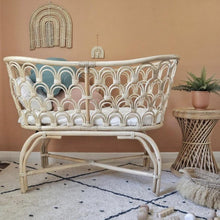Load image into Gallery viewer, Arco Iris Rattan Bassinet - Magnolia Lane