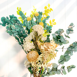 Native Dried Flower Bouquet | Lime - Magnolia Lane