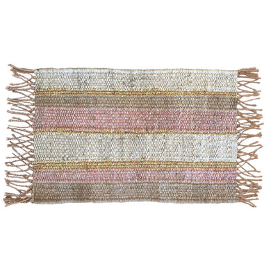 Peachy Stripe Doormat - Magnolia Lane