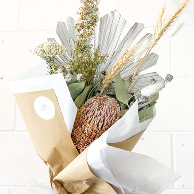Australian Native Dried Flower Bouquet | Silver Mist - Magnolia Lane
