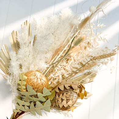 Organic Dried Flower Bouquet | White - Magnolia Lane