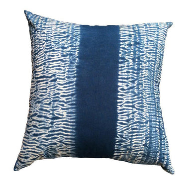 Indigo Shibori Band Cushion - Magnolia Lane