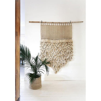 Jumbo Tassel Wall Hanging | Natural - Magnolia Lane