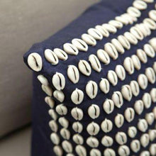 Load image into Gallery viewer, Kauri Shells Navy Medium Cushion 50x50cm - Magnolia Lane